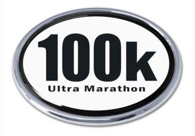 Ultra Marathon 100 k Chrome Emblem