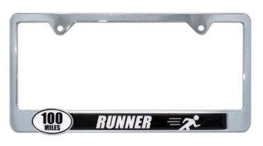 Ultra Marathon 100 Miles Runner License Plate Frame