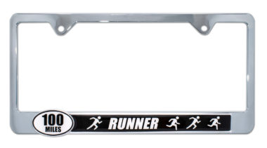 Ultra Marathon 100 Miles Runners License Plate Frame