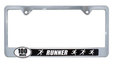 Ultra Marathon 100 Miles Runners License Plate Frame image