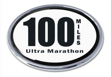 Ultra Marathon 100 Miles Chrome Emblem