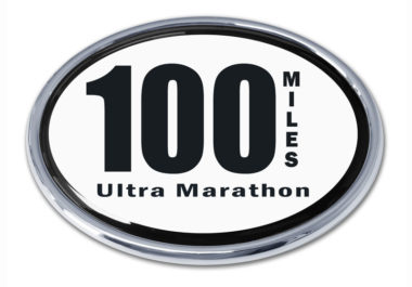Ultra Marathon 100 Miles Chrome Emblem image