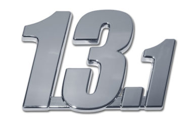 13.1 Half Marathon Chrome Emblem image