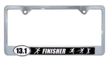 13.1 Half Marathon Finisher Black License Plate Frame image