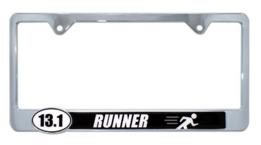 13.1 Half Marathon Runner License Plate Frame