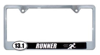 13.1 Half Marathon Runner License Plate Frame image