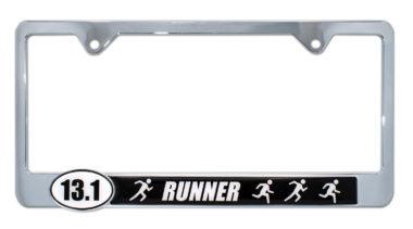 13.1 Half Marathon Runners License Plate Frame image