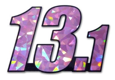 13.1 Half Marathon Pink Reflective Decal
