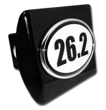 26.2 Marathon Emblem on Black Hitch Cover