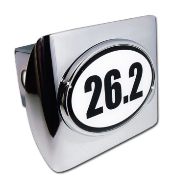 26.2 Marathon Emblem on Chrome Hitch Cover