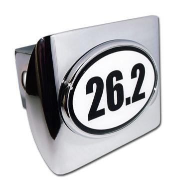 26.2 Marathon Emblem on Chrome Hitch Cover
