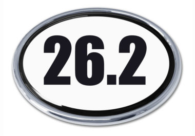 26.2 Marathon Oval Chrome Emblem