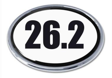 26.2 Marathon Oval Chrome Emblem