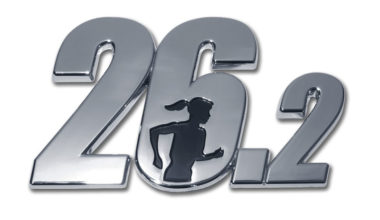 26.2 Marathon Female Runner Chrome Emblem image