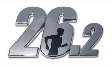 26.2 Marathon Male Runner Chrome Emblem