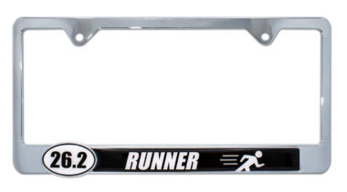 26.2 Marathon Runner License Plate Frame