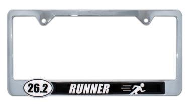 26.2 Marathon Runner License Plate Frame image