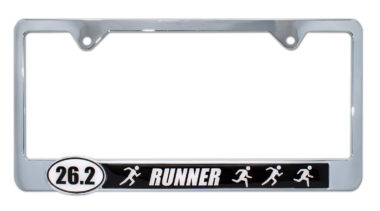 26.2 Marathon Runners License Plate Frame