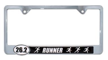 26.2 Marathon Runners License Plate Frame