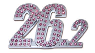 26.2 Marathon Pink Crystal Chrome Emblem image