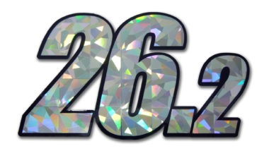 26.2 Marathon Silver Reflective Decal