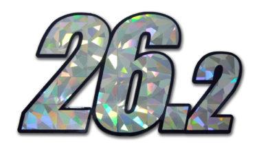 26.2 Marathon Silver Reflective Decal image