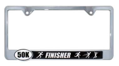 Ultra Marathon 50 k Finisher License Plate Frame