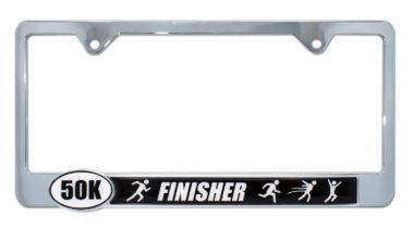 Ultra Marathon 50 k Finisher License Plate Frame