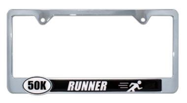 Ultra Marathon 50 k Runner License Plate Frame