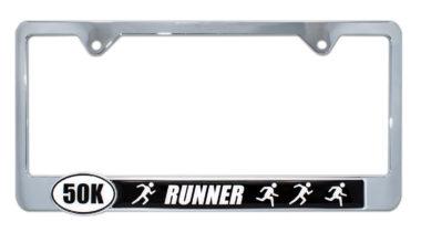 Ultra Marathon 50 k Runners License Plate Frame