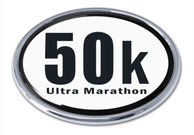 Ultra Marathon 50 k Chrome Emblem