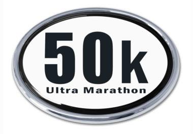 Ultra Marathon 50 k Chrome Emblem