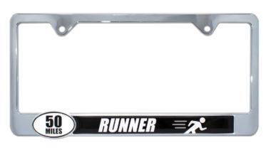 Ultra Marathon 50 Miles Runner License Plate Frame