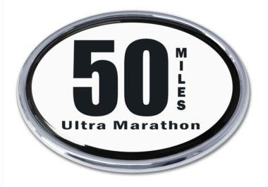 Ultra Marathon 50 Miles Chrome Emblem