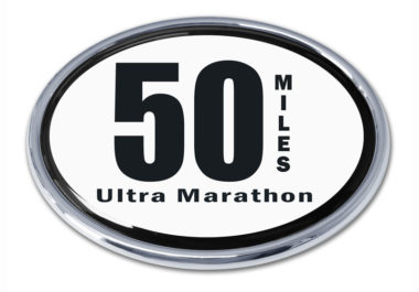 Ultra Marathon 50 Miles Chrome Emblem image