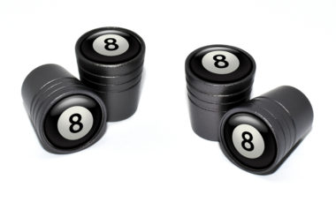 8 Ball Valve Stem Caps - Black