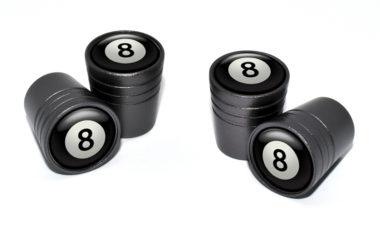 8 Ball Valve Stem Caps - Black
