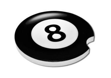 Magic 8 Ball Car Coaster - 2 Pack image