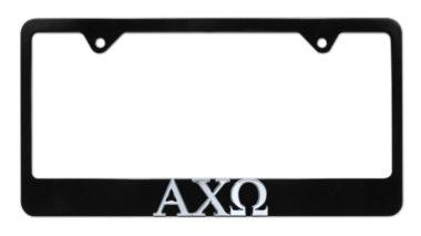 Alpha Chi Omega Black License Plate Frame image