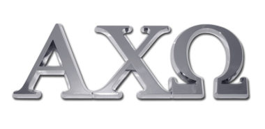 Alpha Chi Omega Chrome Emblem
