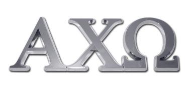 Alpha Chi Omega Chrome Emblem
