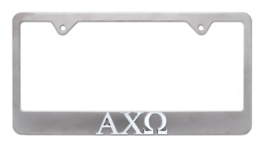Alpha Chi Omega Matte License Plate Frame