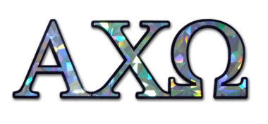 Alpha Chi Omega Reflective Decal