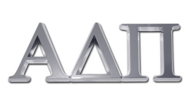 Alpha Delta Pi Chrome Emblem
