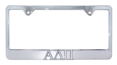 Alpha Delta Pi Chrome License Plate Frame image