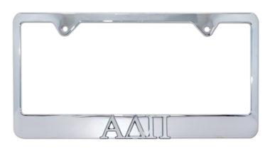 Alpha Delta Pi Chrome License Plate Frame image