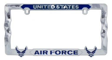 Air Force Blue 3D License Plate Frame
