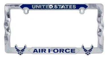 Air Force Blue 3D License Plate Frame image