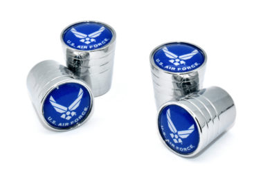 Air Force Valve Stem Caps - Chrome Smooth