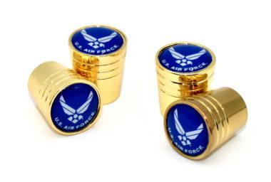 Air Force Valve Stem Caps - Gold Smooth